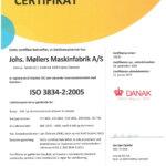 ISO3834 certifikat - Damgaard Metal